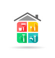 house maintenance vector image vector image