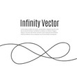 infinity in solid lines of drawing continuous vector image vector image