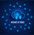 internet of things iot concept cloud and other vector image vector image
