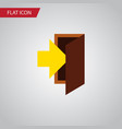 isolated entrance flat icon entry element vector image vector image
