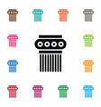 isolated pedestal icon sculpture element vector image