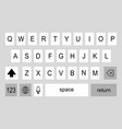 keyboard smartphone back vector image