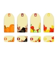 label tag fall thanksgiving vector image vector image