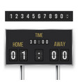 mechanical score board information and indicator vector image vector image