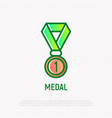medal thin line icon modern vector image