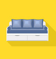 modern drawer sofa icon flat style vector image