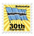 national day of Botswana vector image vector image