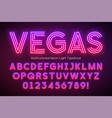 neon light alphabet multicolored extra glowing vector image vector image