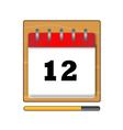 on twelfth day in calendar vector image