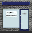 open for business vector image vector image