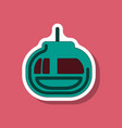 paper sticker on stylish background cabin ski lift vector image vector image