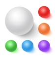 Photorealistic 3D Ball Set Template Bright vector image vector image