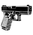 pistol glock gun 9 caliber vector image vector image