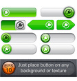 Plug high-detailed modern buttons vector image