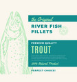 premium quality fish fillets abstract fish vector image vector image