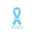 prostate cancer awareness blue ribbon vector image vector image