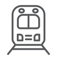 rail road trip line icon transport and railway vector image