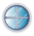 round window painted in white vector image vector image