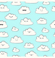 seamless pattern with clouds happy spring vector image