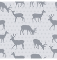 Seamless pattern with deer vector image vector image