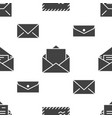 seamless pattern with envelopes flat glyph icons vector image vector image