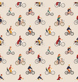 seamless pattern with old and young people riding vector image vector image