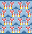 seamless pattern with passenger airplanes strip vector image