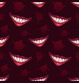 seamless pattern with scary vampires smiles vector image vector image
