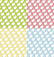 seamless patterns with bunny vector image