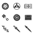 set of auto spare parts vector image vector image