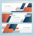 set of business banners in geometric shape style vector image