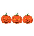 set of halloween pumpkins funny vector image vector image
