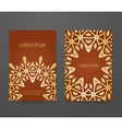 Set of vintage greeting cards vector image