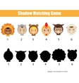 Shadow matching game vector image vector image