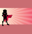 super girl ray light silhouette vector image vector image