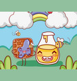 sweet breakfast kawaii cute cartoons vector image vector image