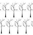 trees on white background seamless pattern plant vector image