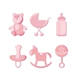 vector illustration baby icons set vector image vector image
