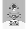 vintage motorcycle world bikers festival race vector image vector image