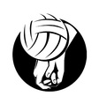 Volleyball Player Hitting Ball vector image vector image