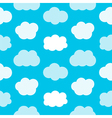 Flat design cute blue sky with clouds pattern vector image