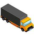 3d design for lorry truck vector image vector image