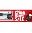 8000x3200 Pixel Cyber Monday Banner vector image