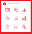 9 stock icons vector image vector image