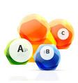 aqua glossy glass elements vector image vector image