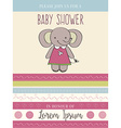 baby shower card with cute little mouse vector image vector image