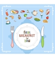 Best Breakfast For You vector image vector image