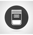 Blood bag black round icon vector image