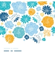 Blue and yellow flowersilhouettes horizontal decor vector image vector image