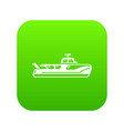 boat icon simple black style vector image vector image